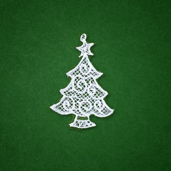 Freestanding Lace Holiday Ornaments