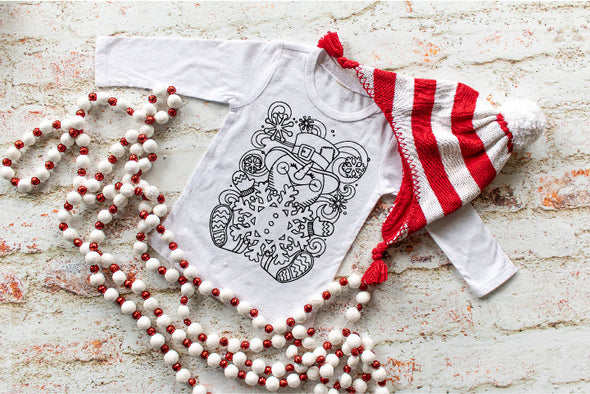 Fancy Snowman Coloring Shirt (Child)
