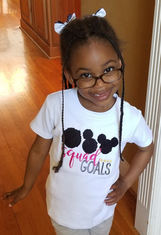 Afro Squad Goals Toddler Girls Tee