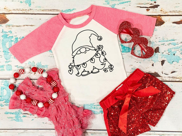 Gnome Love Coloring Shirt