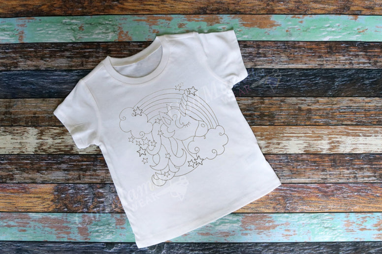 Unicorn Color-Your-Own Shirt (Child)