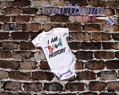 I Am Black History Infant Bodysuit