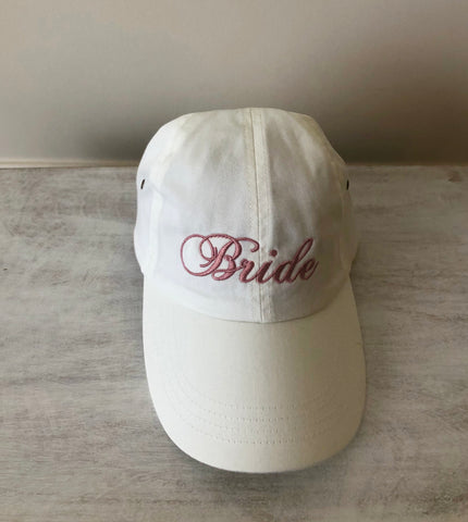Embroidered Bride Hat (White)