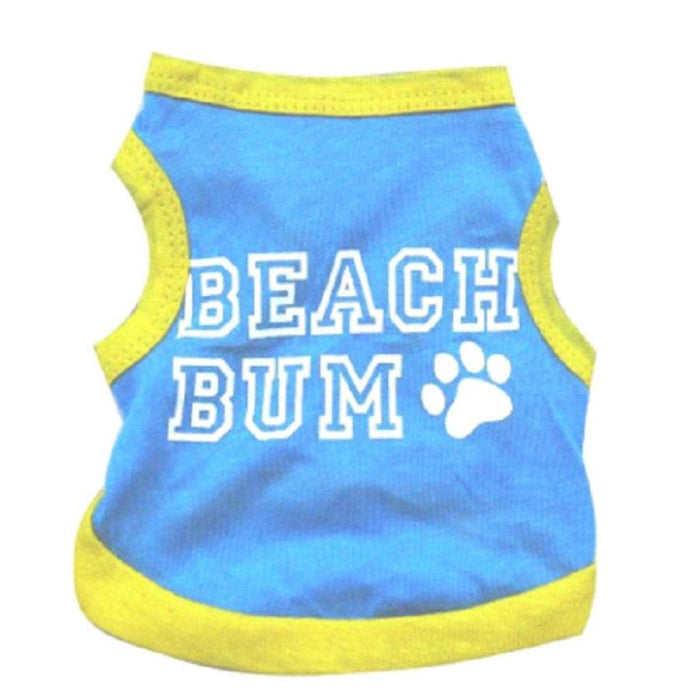 Dog Shirt/Coat with Beach Bum Design