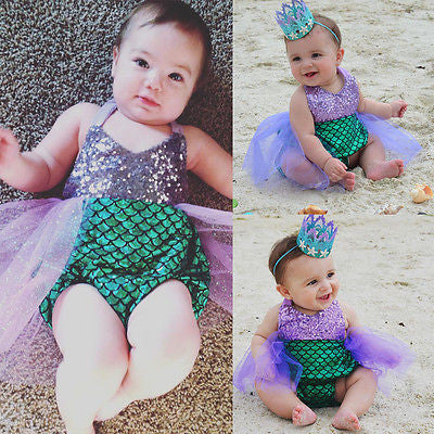 Mermaid Swimming Suit for Babies to age 5