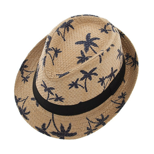 Sunhat Palm Trees Trilby Style Straw Hat 🌴⛱