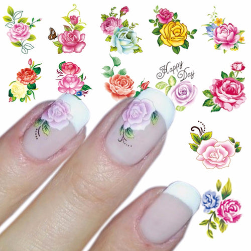 Nail art Flower Sticker Transfers 🌺