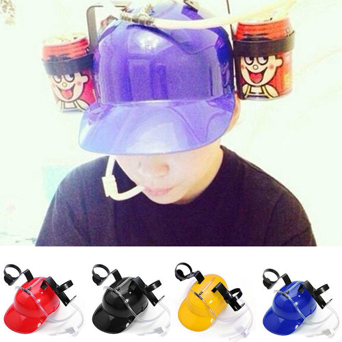 Helmet Beer/Drinks Can Holder Drinking Straws Handsfree 4 Colours