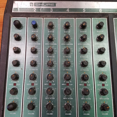 Shure Pro Master Power Console Powered Mixer