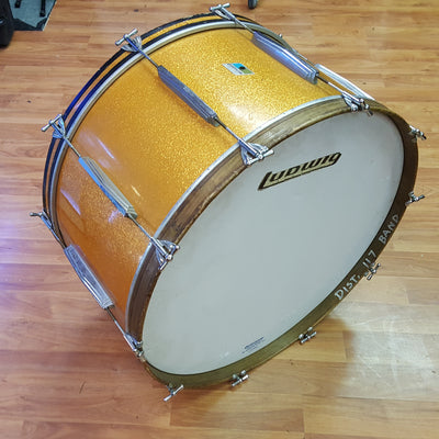"Ludwig 28"" x 15"" Bass Drum 1971 Gold Sparkle"