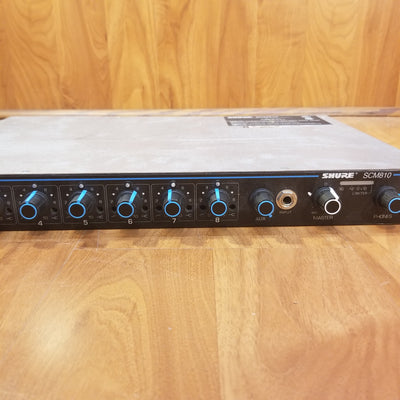 Shure SCM810 8-Channel Analog Automated Rack Mixer