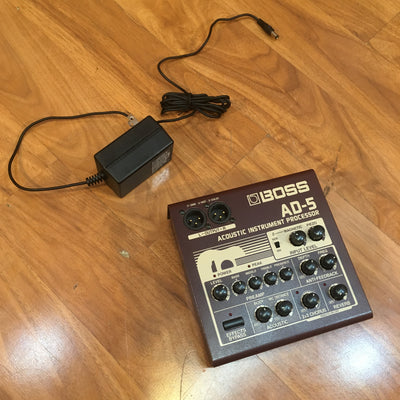 Boss AD-5 Acoustic Instrument Processor w Pwr Supply