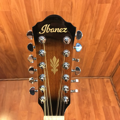 Ibanez AEG1812II Dark Violin Sunburst 12-String Acoustic Guitar