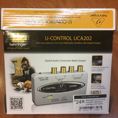 Behringer U-CONTROL UCA202 USB/Audio Interface with Digital Output
