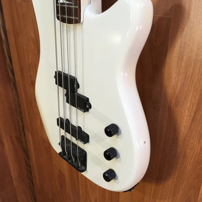 Vintage 80s Ovation Celebrity BC2-6 White Electric Bass Guitar