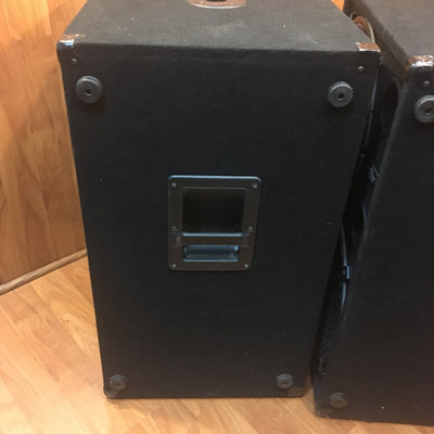 2 x 15 Inch Eminence Subwoofer Cabinet Pair AS-IS