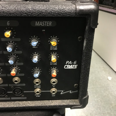 Crate PA-6 6 Ch.Powered MIxer PA Head
