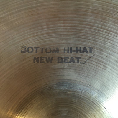 1969 Vintage Zildjian 14 New Beat Hi Hat Cymbals (heavier bottom)