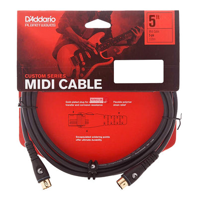 Planet Waves PW-MD-05 5ft Midi Cable 5 Pin