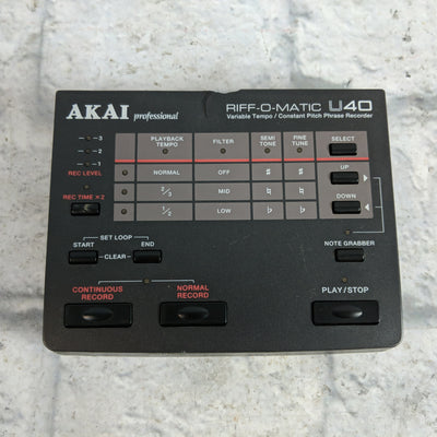 Akai Professional Riff O Matic U40 Pitch Phrase Sampler Loop Recorder Slow Down Music Pitch