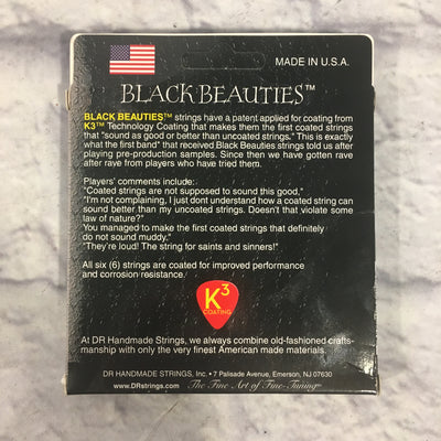DR Black Beauties Black Colored Electric Guitar Strings 10-46