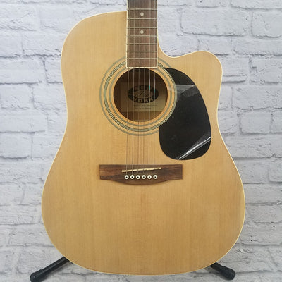New York Pro NY-DRW977CEQ Natural Acoustic Electric