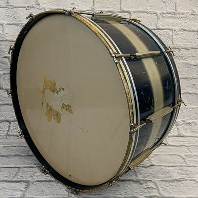 "Vintage 1930s WFL Ludwig 14x30"" Bass Drum Blue and Silver Duco"