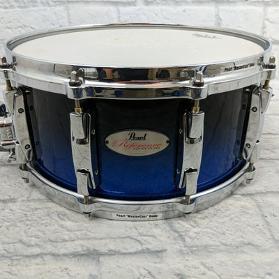 "Pearl RF1465S/C Reference Snare Drum 20-ply Maple Birch 14""x6.5"" Ultra Blue Fade"