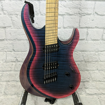 Kiesel Aries AM6 Multiscale Fanned Fret Electric Guitar - Cotton Candy Flamed Maple Finish