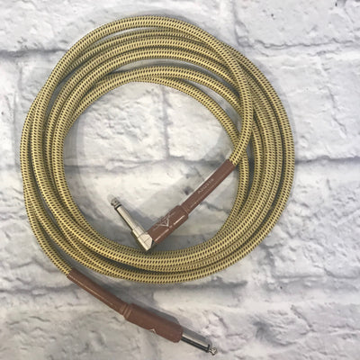 Fender 10Ft Braided Guitar Cable with Right Angle