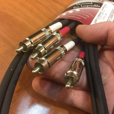 6ft Dual RCA to RCA Stereo Cable (male to male, new)