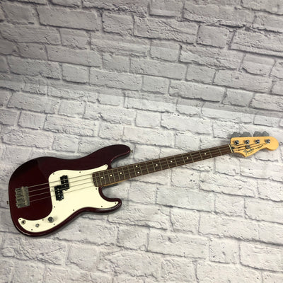Fender 2004 Red Mexican 4 String Precision Bass