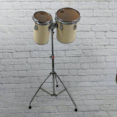 "Slingerland 6"" & 8"" Bongo Concert Toms With Stand"