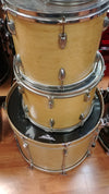 Keller 4 Piece Drum Kit Natural Finish