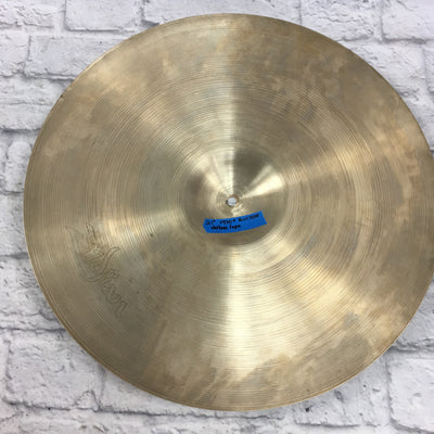 Vintage Zildjian 21 Hollow Logo Ride Cymbal