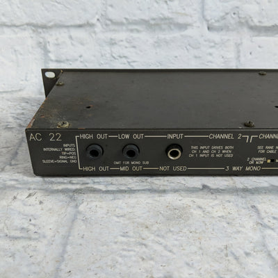 "Rane AC22 Active Crossover With 1/4"" Ins and Outs"