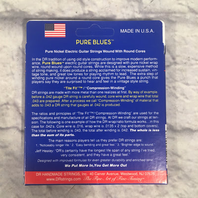 DR Pure Blues Vintage S Lite Nickel Electric Guitar Strings 10-46