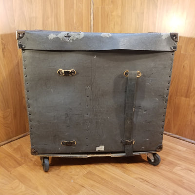 Vintage Fiber Drum Hardware Trap Case w Wheels 27x23x13