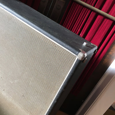 Fender 2x12 Silver Face Drip Edge Cabinet 1968 w/ Jensen Speakers