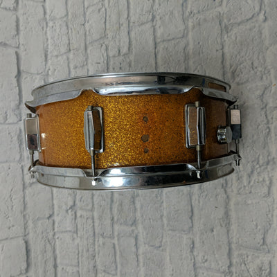 Vintage 1960s Del Rey Gold Sparkle Project Snare Drum Made in Japan