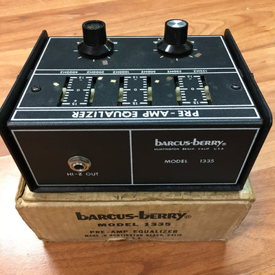 Barcus Berry 1335 Preamp Equalizer