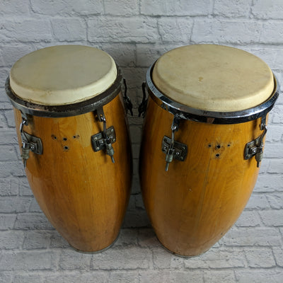 Pair of Vintage Gon Bops IC-4141 Congas