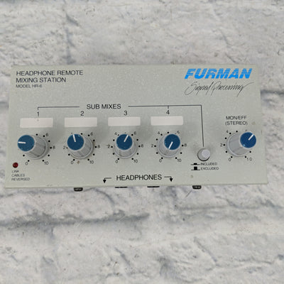 Furman HR-6 Headphone Remote Mixing Station