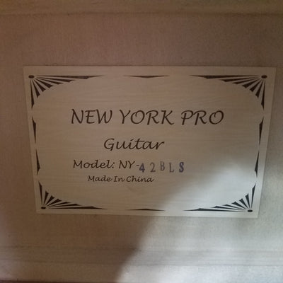 New York Pro 42BLS Acoustic Guitar