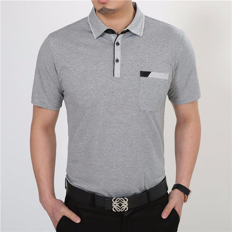 Short Sleeve Cotton T-Shirt w/Pocket - Men