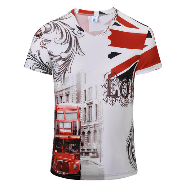 Retro Style 3D Summer Tee - Men