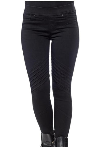 Black Skinny Moto Jeggings