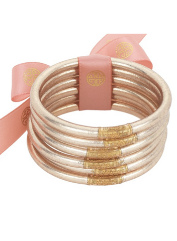 CHAMPAGNE ALL WEATHER BANGLES - SERENITY PRAYER