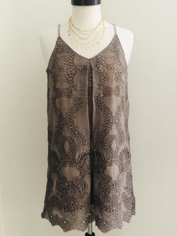 Tea Party Mocha Dress