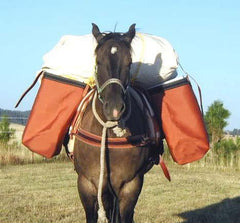 Utah Horse Panniers - Iron Cloth & Canvas